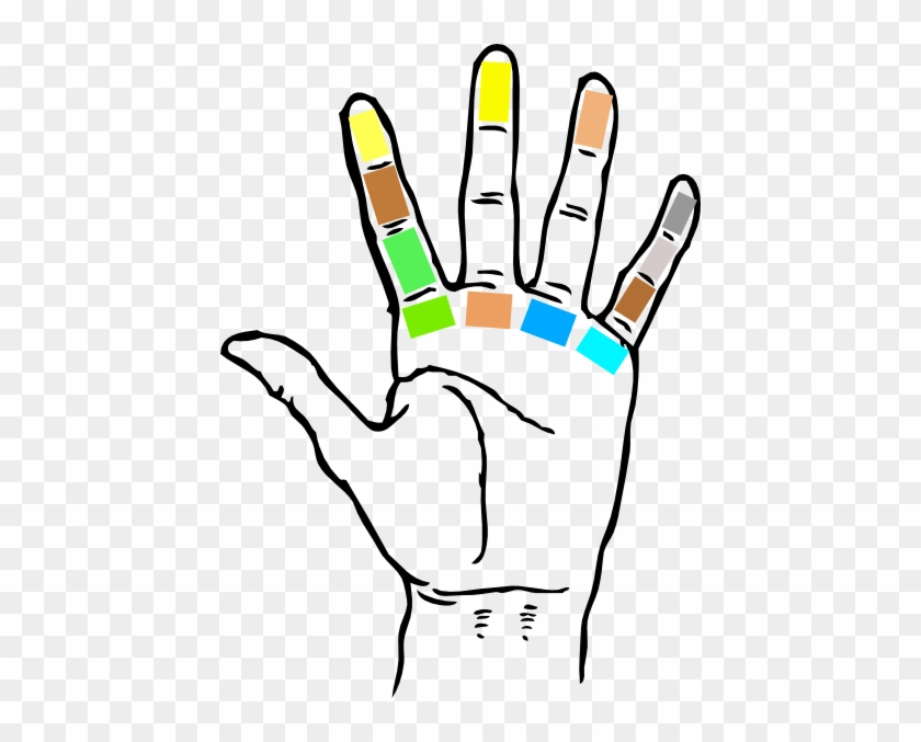Small Big Hand Clip Art - Guitar Left Hand Fingering #107115