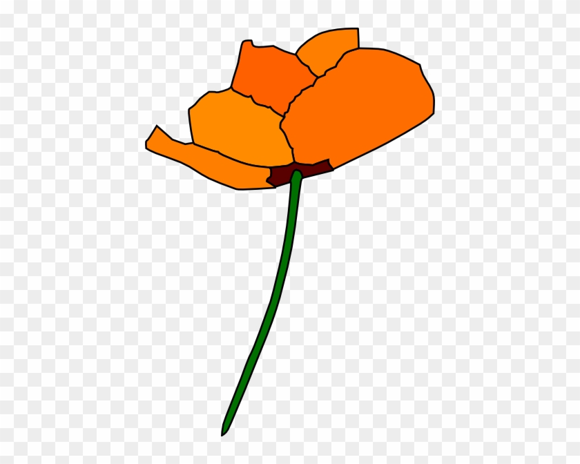 California Poppy Clip Art At Clker - California State Flower Clipart #107147