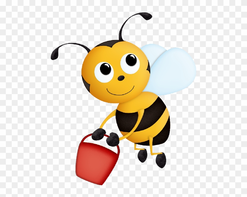 Funny Valentine Honey Bees Cartoon Clip Art Insect - Bee With Honey Clipart #107236