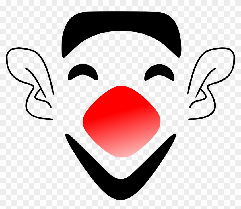 Funny Face Laughing Clown Face Clip Art At Vector Clip - You Have To Laugh Or Else You'll Cry #107252