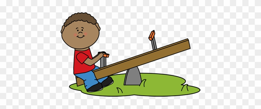 Boy On A See Saw Clip Art - Alone Clipart #107284