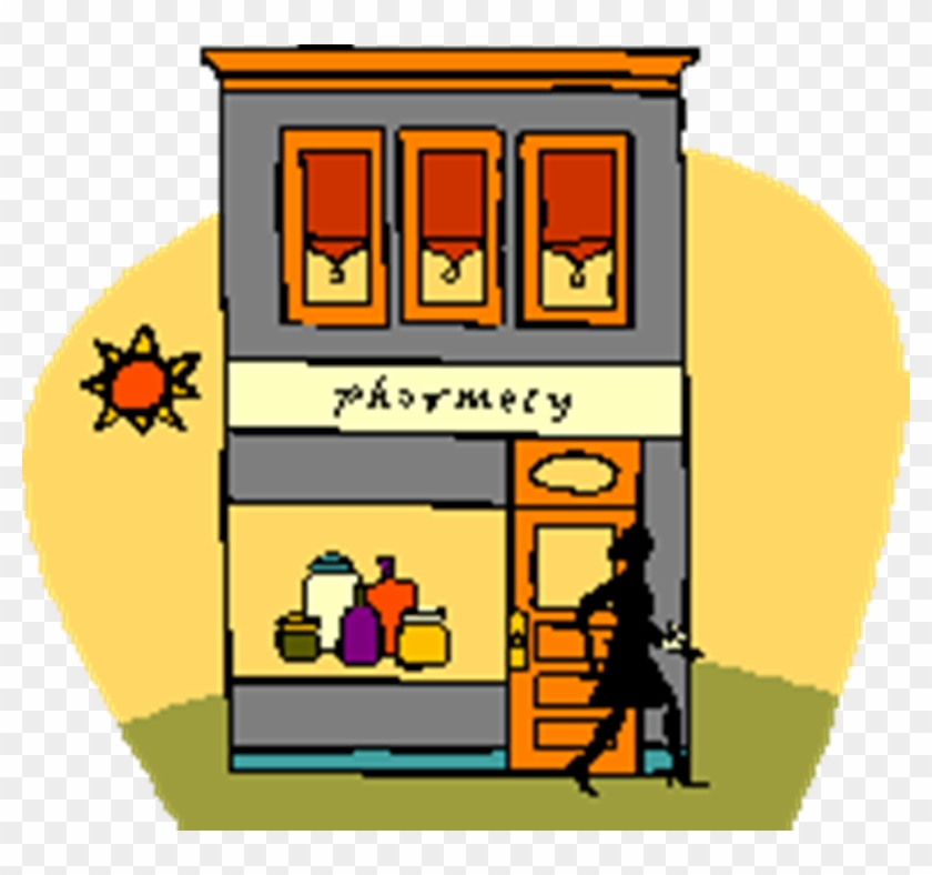 Clip - Pharmacy Building Clipart Free #107303