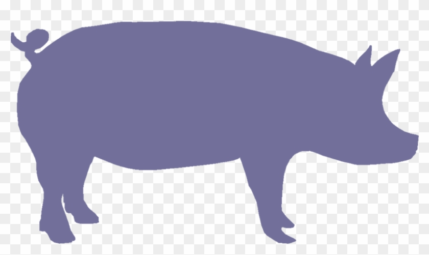Pig Face Silhouette - Cute Pig Silhouette Png #107385