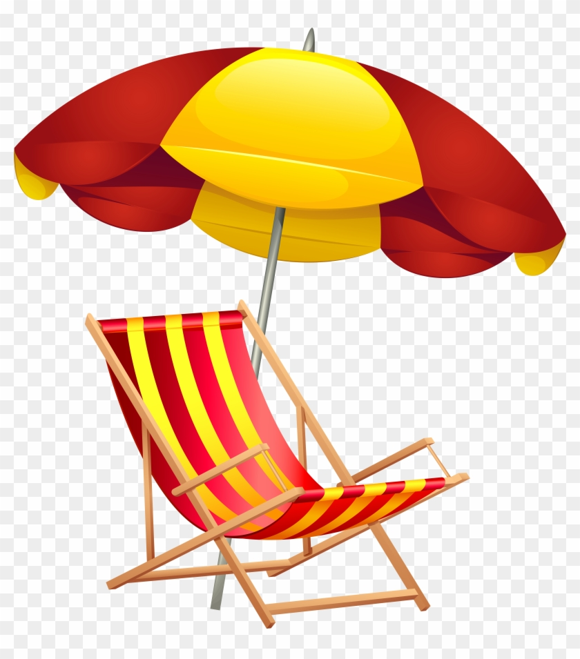 Beach Chair And Umbrella Png Clip Art Image - Beach Chair And Umbrella Png Clip Art Image #107431