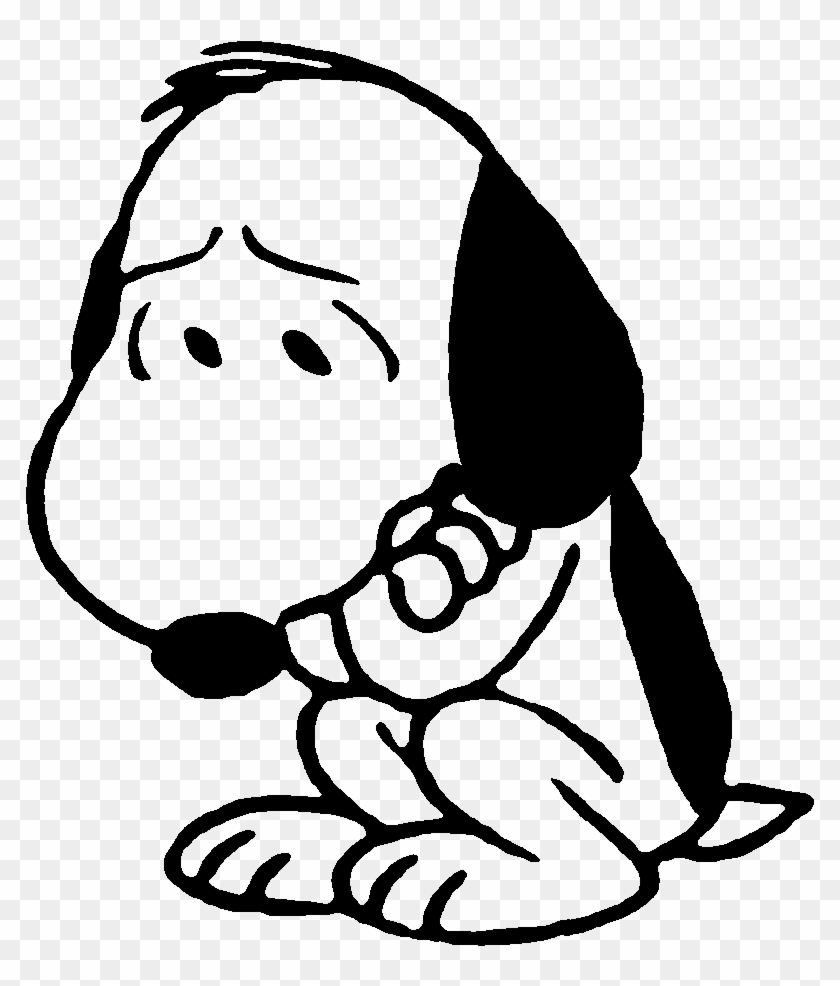 Awww Snoopy Is Sad - Sad Snoopy #107406