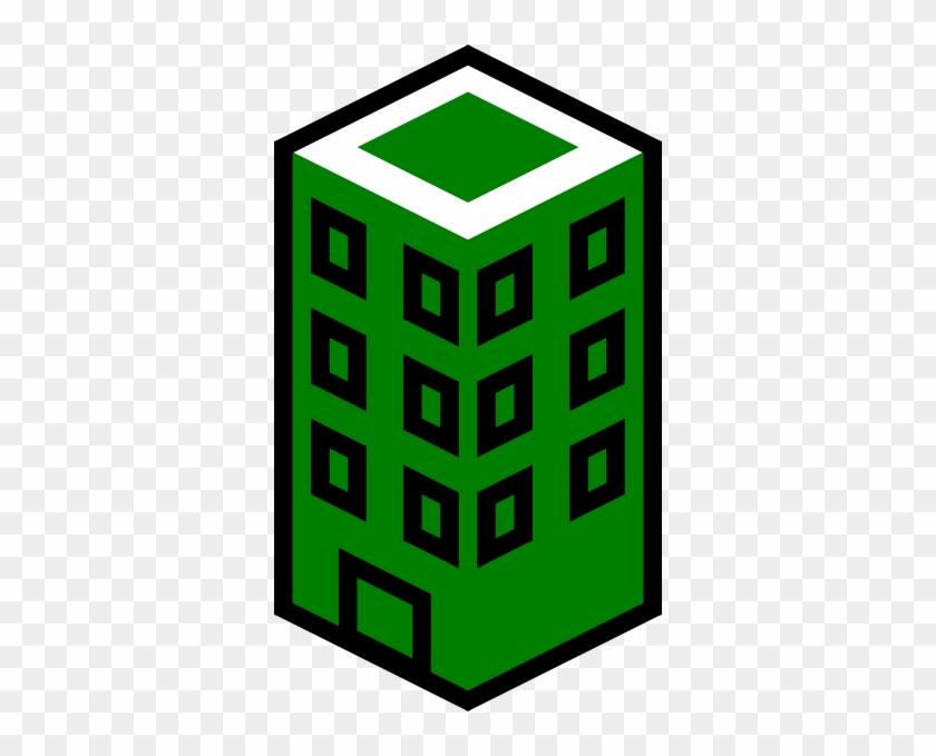Green Building Clipart - Green Building Vector Png #107446