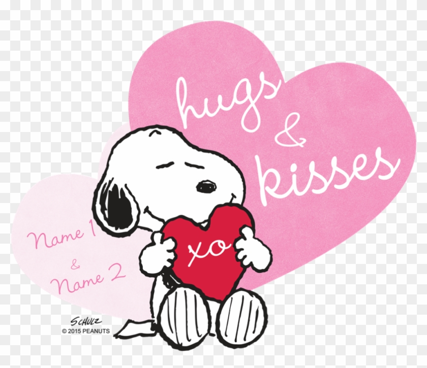 Snoopy Hugs And Kisses Personalize T Shirt Snoopy Hug - Snoopy Hugs And Kisses #107449