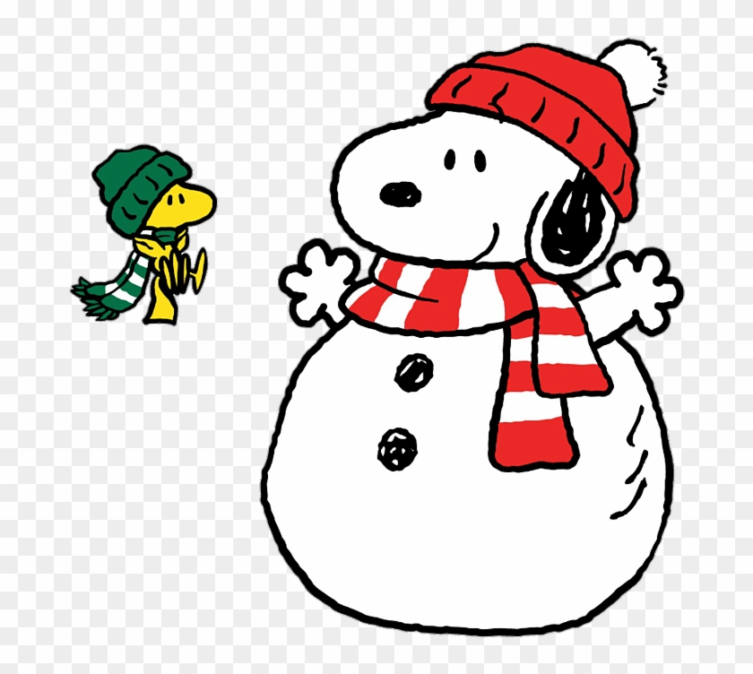 64270776 Woodstock And Snoopy Winter Free Transparent Png