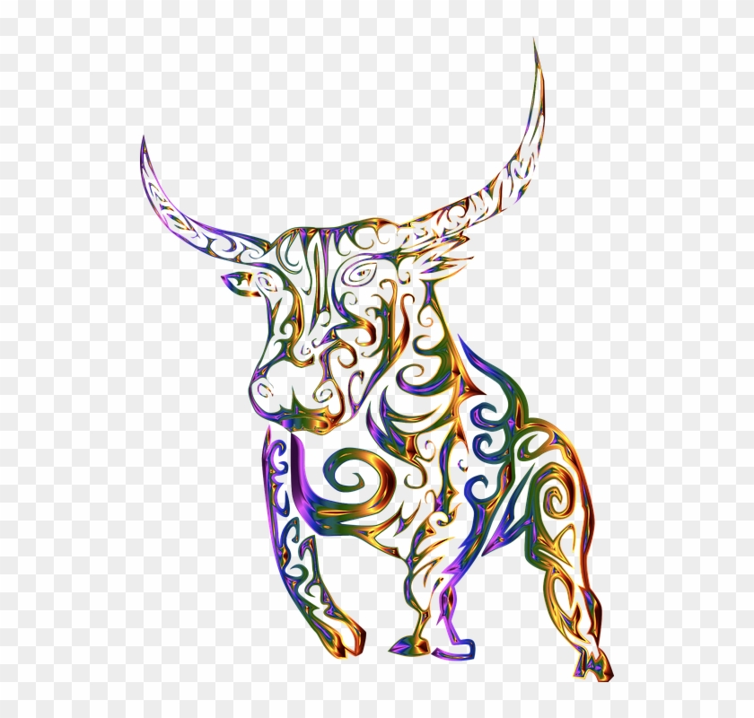 Tribal, Bull, Cow, Abstract, Line Art - T Shirt Design Png Tribes #107489