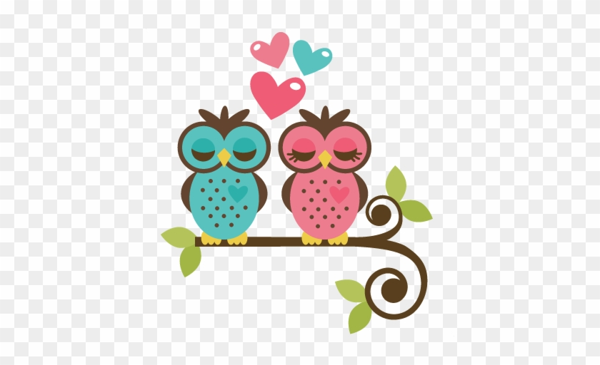 Owls In Love Svg File For Scrapbooking And Cardmaking - Owls In Love Clipart #107497