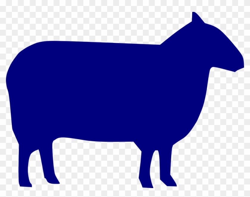 Free Vector Graphic - Blue Sheep Silhouette #107554