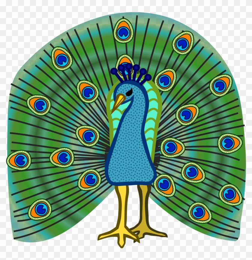 Clip Art Peacock Clipartfest - Coloured Picture Of Peacock #107619