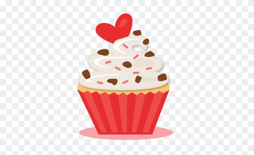 Valentine Cupcake Svg Scrapbook Cut File Cute Clipart - Valentines Cupcakes Clipart #107687