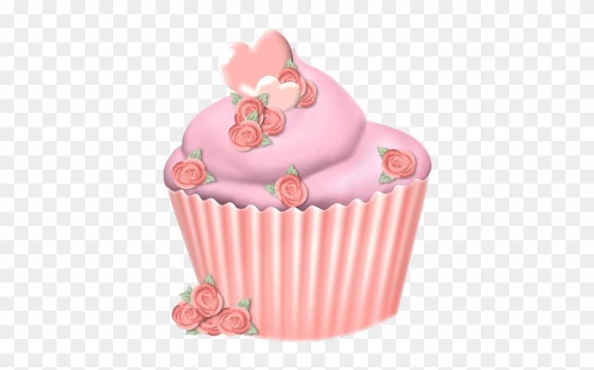 Pinky Peach Valentine - Cupcake #107691