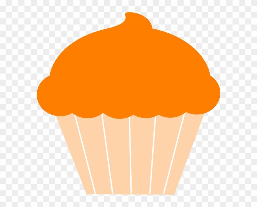 Muffin Clipart Orange Cupcake - Hd Cupcakes Clip Art #107707