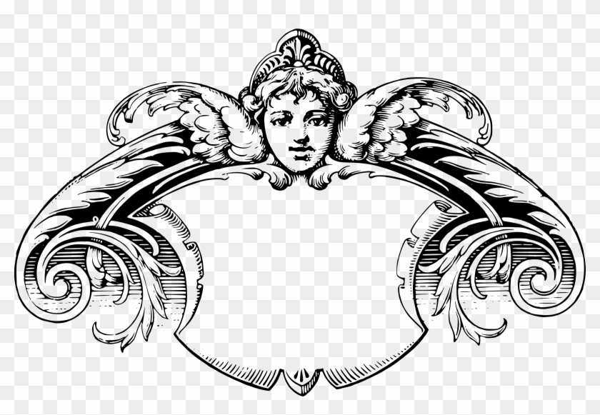 Cherub Frame - Victorian Frames Clip Art #107730