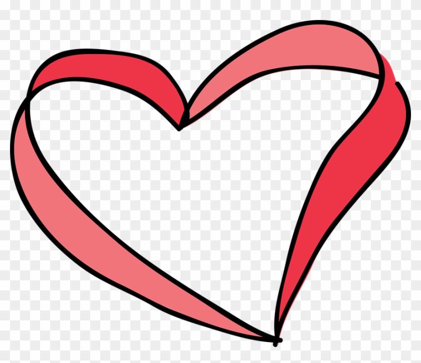 Red Heart Symbol Love Valentine Shape Romantic - Desenho Coração Em Png #107747