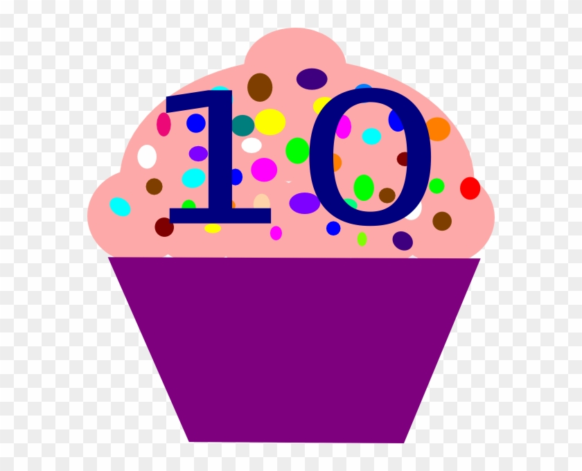 Cupcake 10 Clip Art - Number10 Clipart #107753
