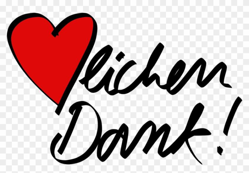 Heart Thank You Thanks To Congratulations Cartoon - Danke Sagen #107789