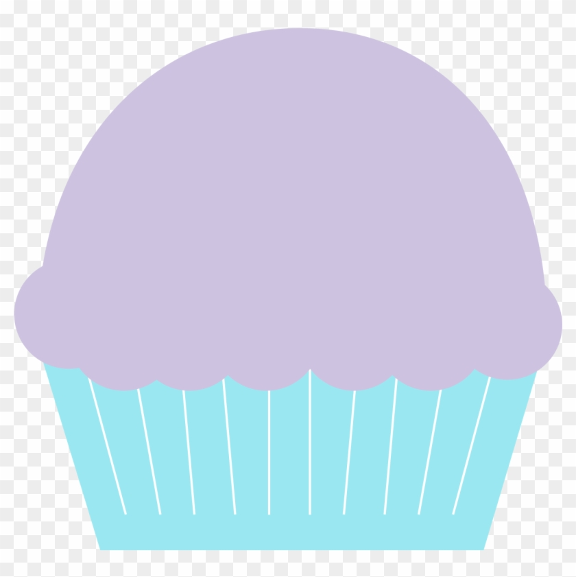 Blue And Purple Cupcake Clipart - Blue And Purple Cupcake Clipart #107804