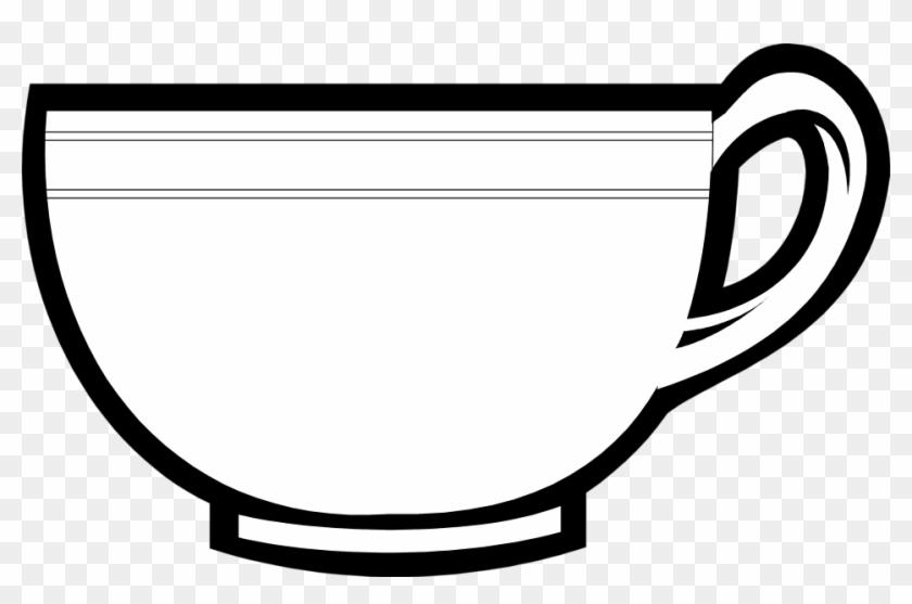 Monochrome Clipart Mug - Tea Cup Clip Art #107859