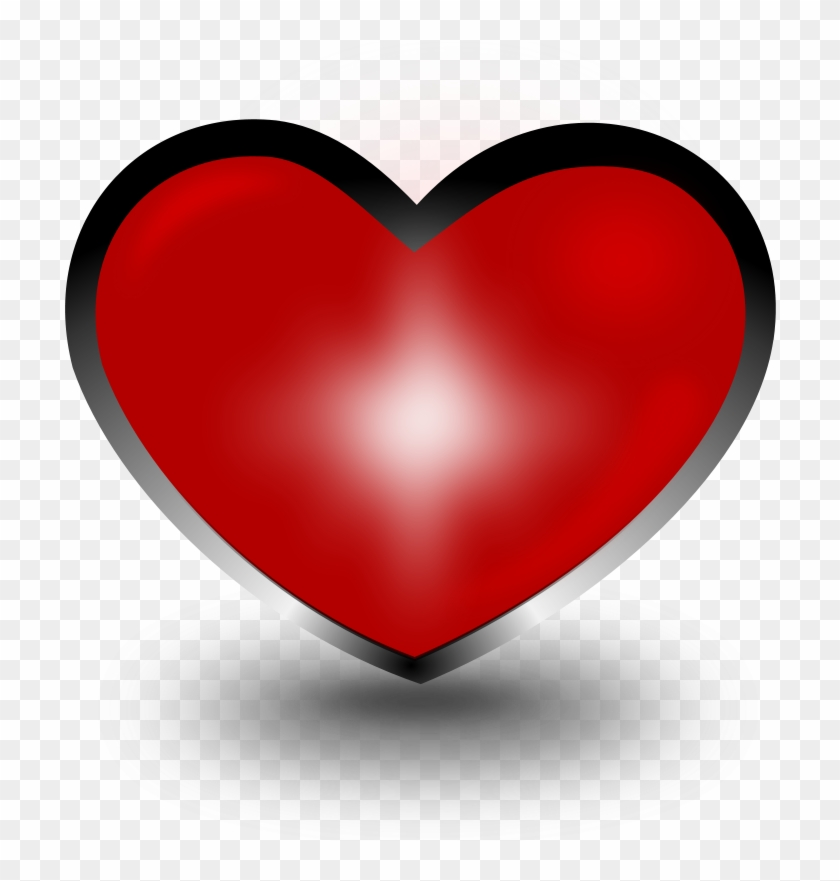 Heart Clipart - Coração Em 3d Png #107880