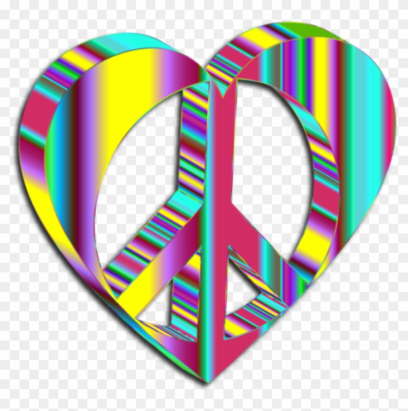 3d Peace Heart Mark Ii Psychedelic 2 - 3d Peace #107884