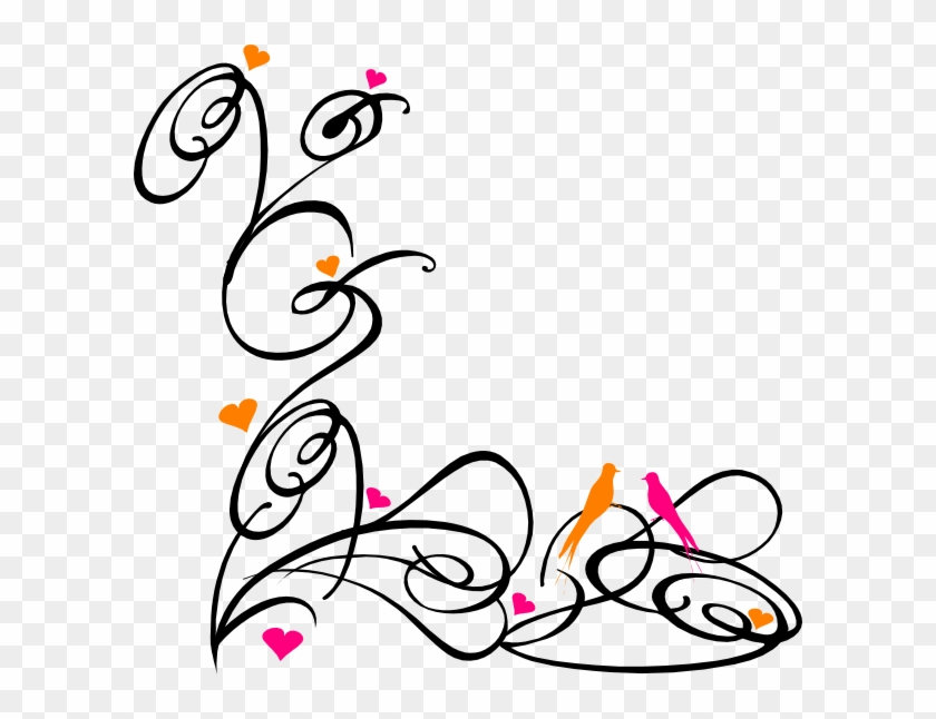 Decorative Swirl Birds Clip Art At Clkercom Vector - Page Borders In Word #107940