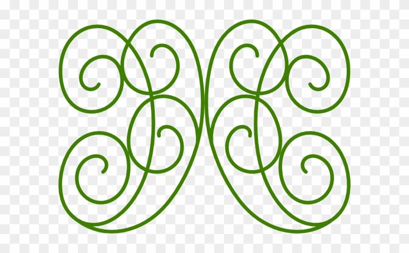 Swirl Green Clip Art At - Green Swirls Clipart #107951