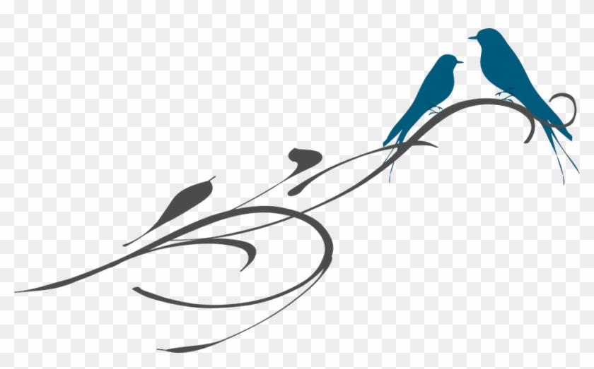 Birds Branch Ornament Swirl Love Letter Valentine - Png Love Birds #107959