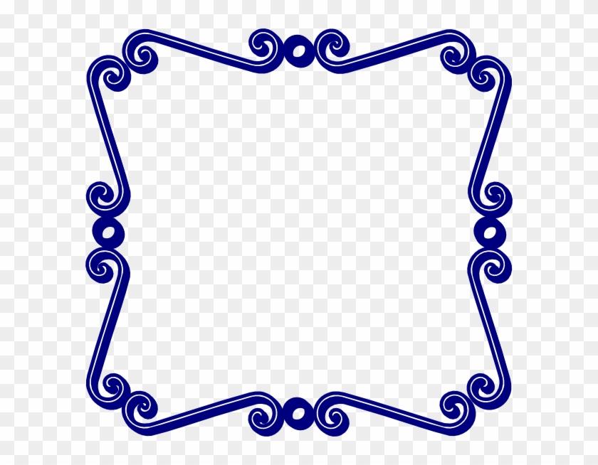 Blue Swirl Border Clip Art - Bani Guru Ravidass Ji Ki #107969