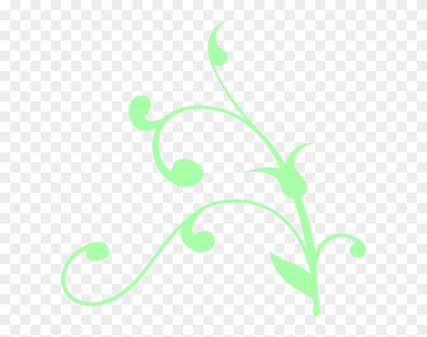 Mint Green Swirl Clip Art At Clker - Tree Branch Clip Art #107972