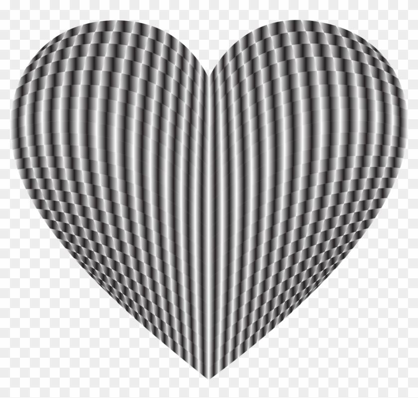 3d Prismatic Grid Heart 4 - Heart #107986