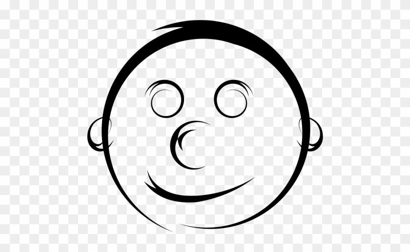 Spiro Swirls Smiley Clip Art - Black And White Smiley Face #108031