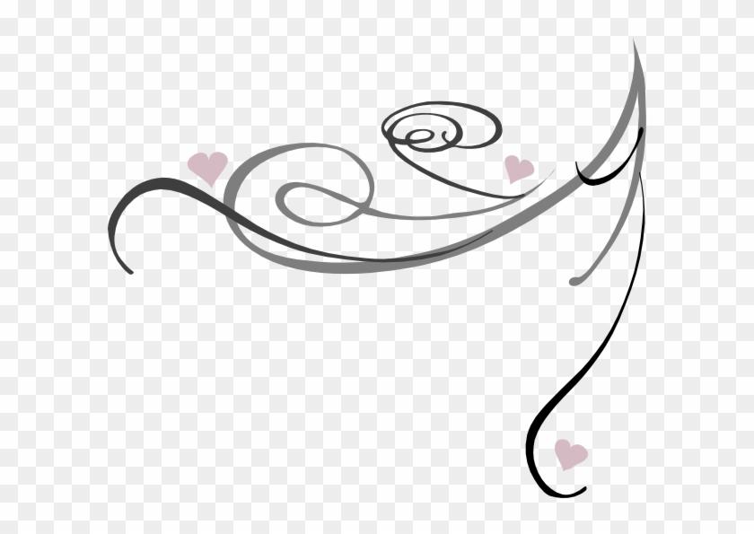 Decorative Swirl Clip Art At Clker - Red Swirls #108033