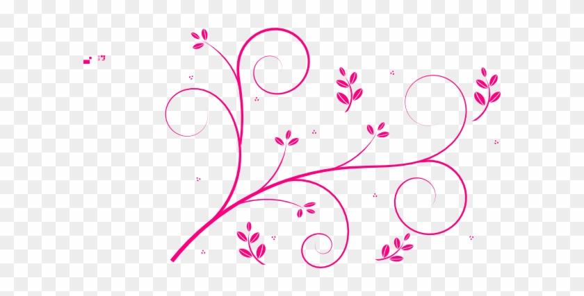 Hot Pink Swirls Clip Art At Clker - Pink Swirl Clip Art #108040