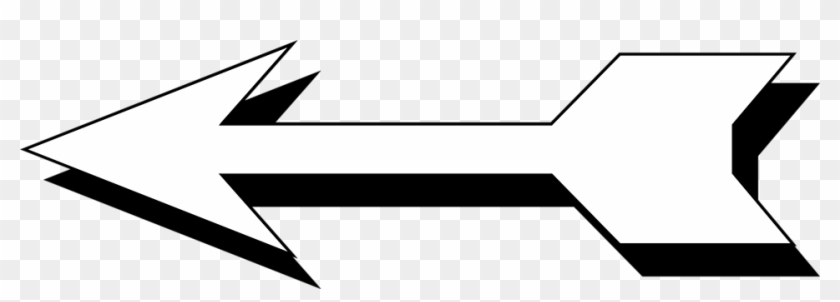 Arrow White Free Stock Photo Illustration Of A Left - Left Arrow Transparent Background #108051
