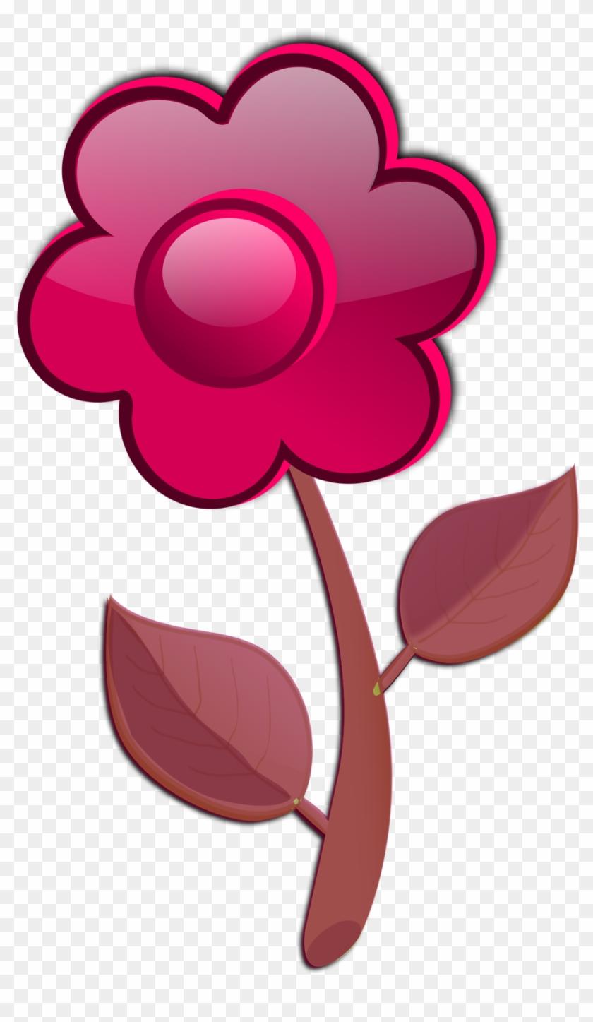 Free Flower A2 - Cartoon Pink Flower #108053