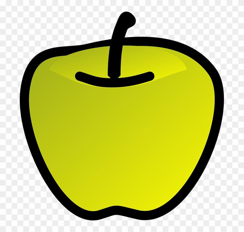 Apple Green Fruit 3d Glossy - Draw A Green Apple #108056