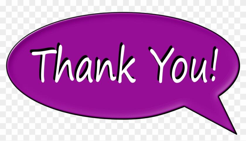 Thank You Bubble - Thank You Speech Bubble Clipart #108069