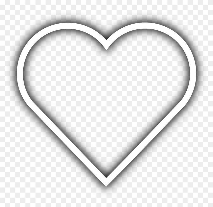 Simple Heart Clip Art - White Heart Outline Transparent #108079