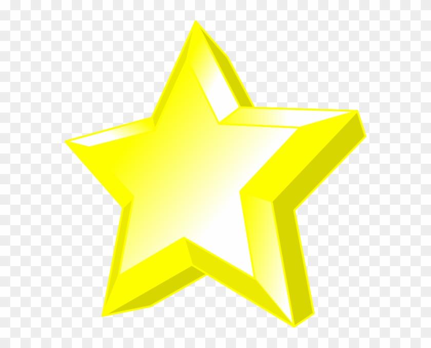 3d Star Clip Art At Clker - Clip Art 3d Star #108094