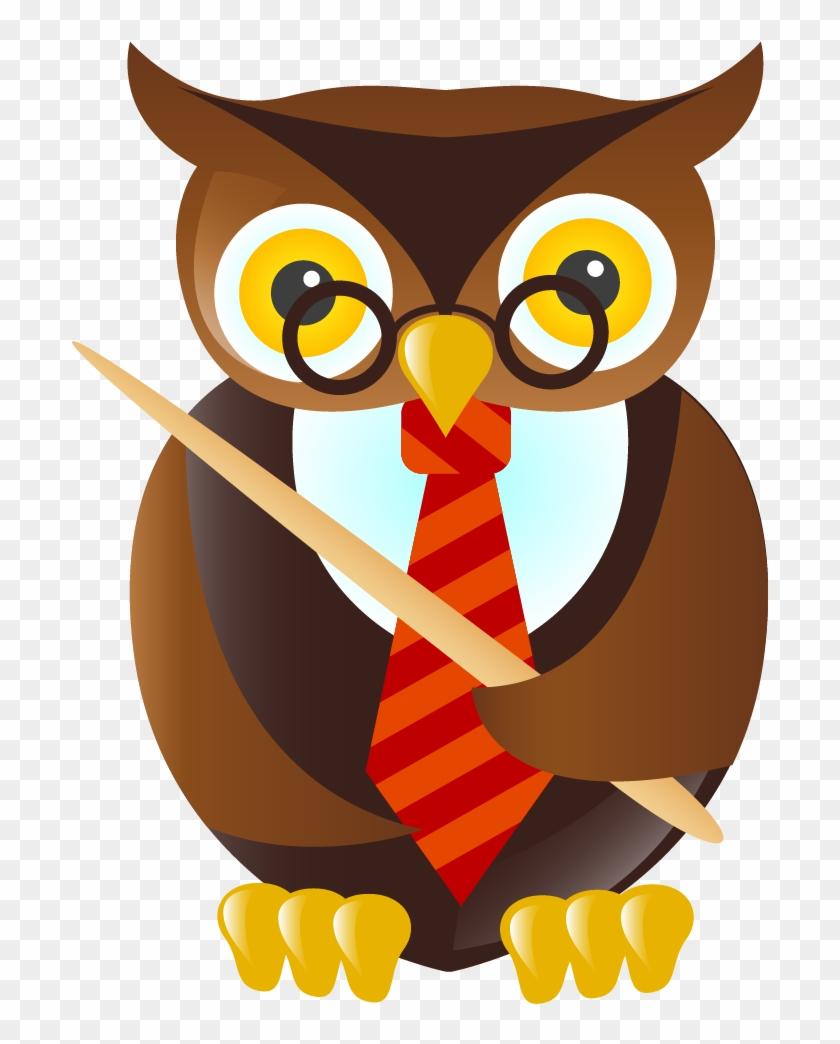Owl Student Teacher Cartoon Clip Art - School Clip Art #108124