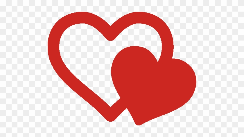 Thank You - Two Hearts Icon Png #108266