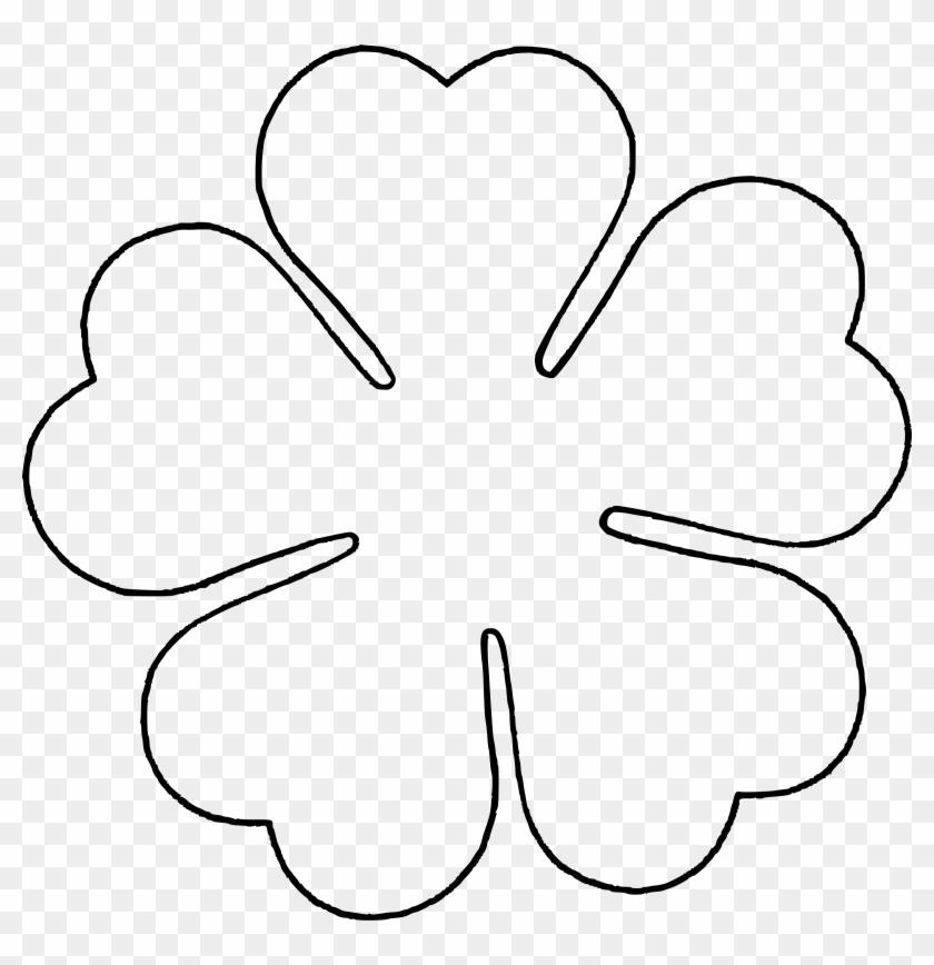 Flower Love Five Petal Template By @baj, A Flower Template - 6 Petal Flower Template #108296