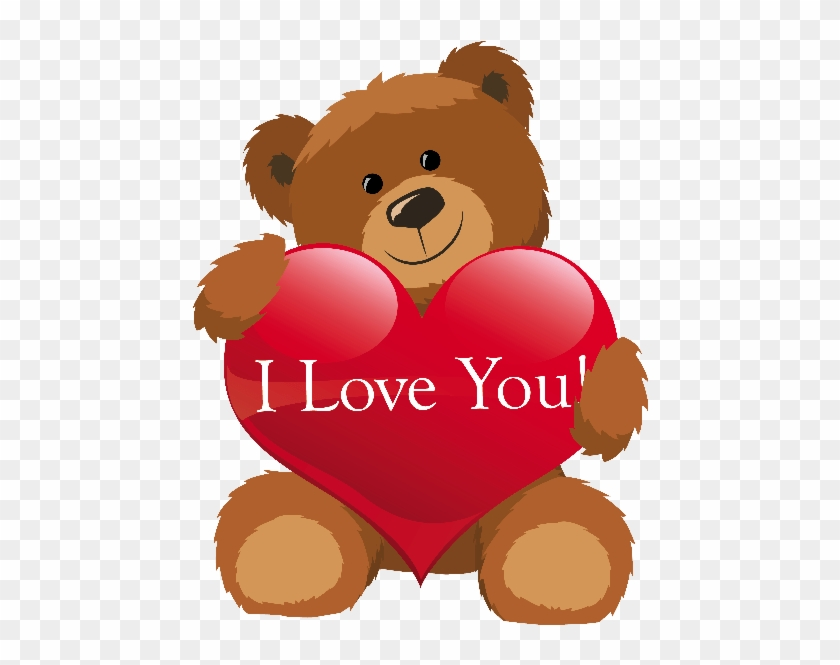 Happy Valentine Quotes Red Love Hearts Flowers Roses - Teddy Bear Love Png #108340