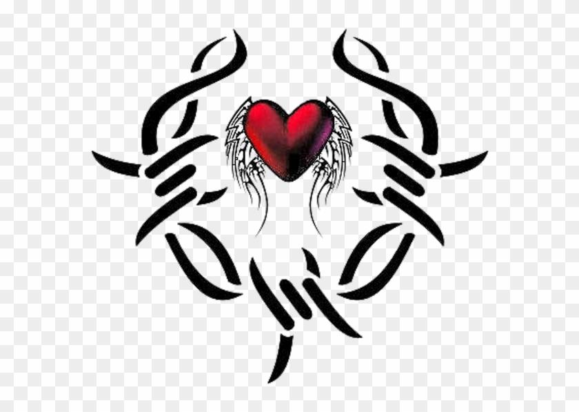 Tribal Heart Tattoos - Tribal Love Heart Tattoos #108508