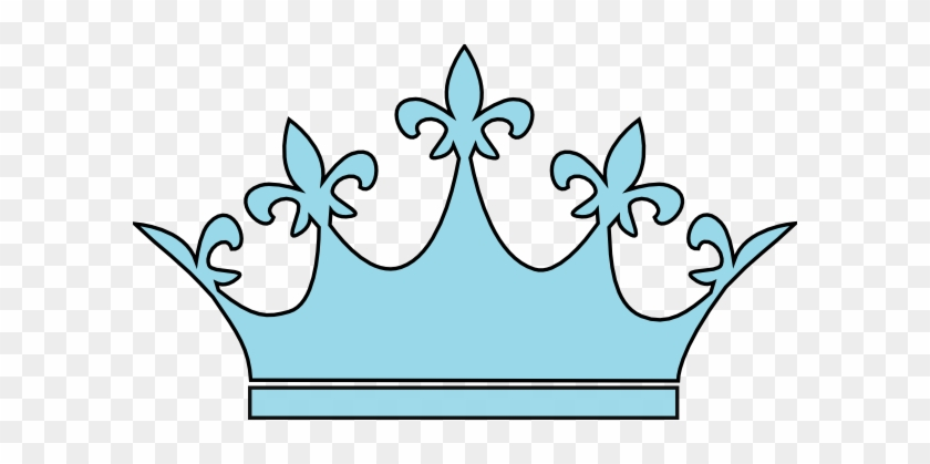 Crown Clipart Baby Blue - Light Blue Crown Clipart #108864
