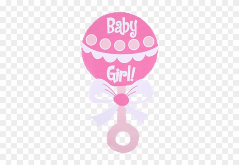 Baby Girl Rattle Clip Art - Girl Baby Shower Clip Art Free #108893