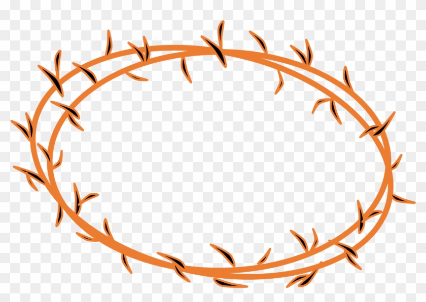 Jesus - Crown Of Thorns Clipart Png #109047
